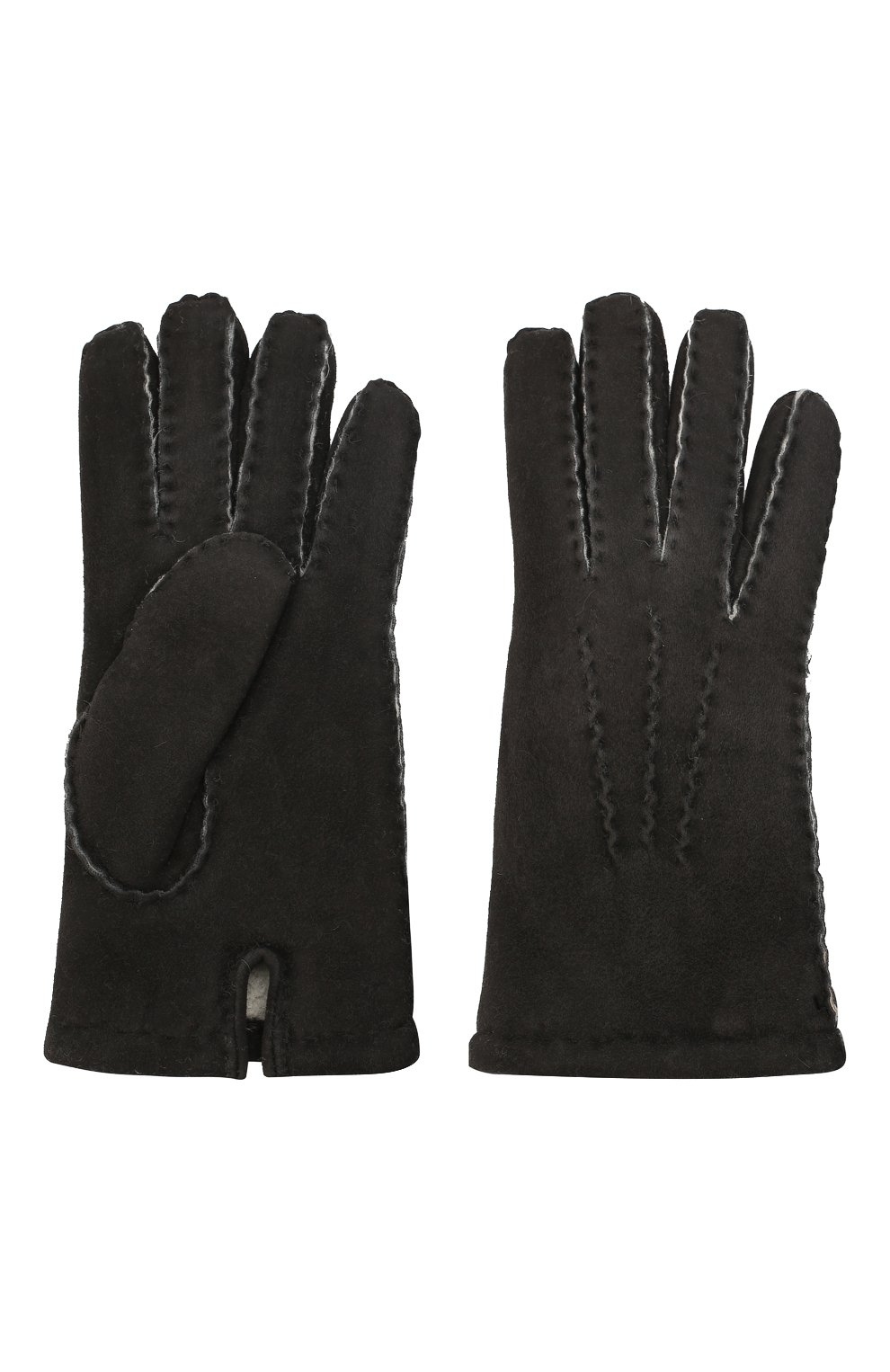 Мужские замшевые перчатки DENTS черного цвета, арт. 5-1553   Фото 2