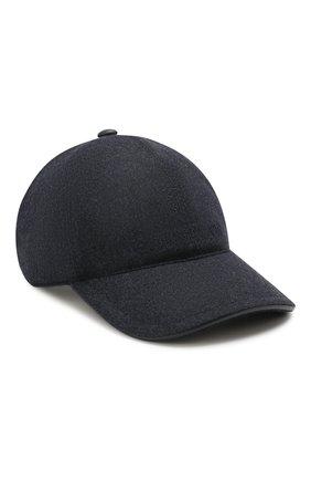 Мужской шерстяная бейсболка CORNELIANI синего цвета, арт. 840332-9829205/00 | Фото 1