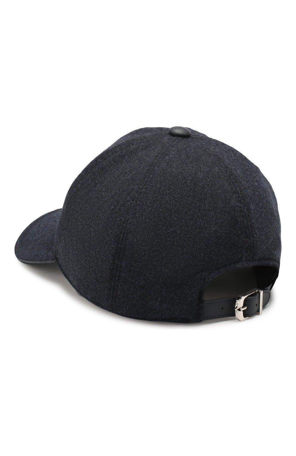 Мужской шерстяная бейсболка CORNELIANI синего цвета, арт. 840332-9829205/00 | Фото 2