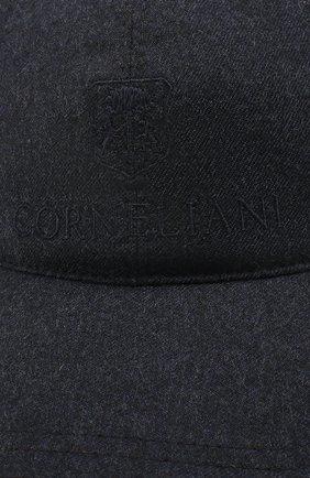 Мужской шерстяная бейсболка CORNELIANI синего цвета, арт. 840332-9829205/00 | Фото 3