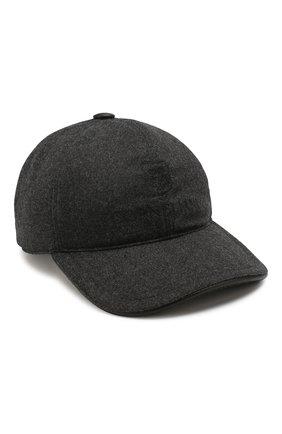 Мужской шерстяная бейсболка CORNELIANI темно-серого цвета, арт. 840332-9829205/00 | Фото 1