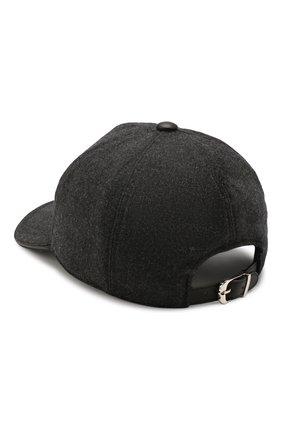 Мужской шерстяная бейсболка CORNELIANI темно-серого цвета, арт. 840332-9829205/00 | Фото 2