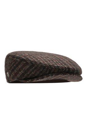 Мужская кашемировое кепи CORNELIANI темно-коричневого цвета, арт. 840338-9829202/00 | Фото 1
