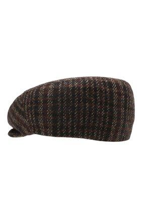 Мужская кашемировое кепи CORNELIANI темно-коричневого цвета, арт. 840338-9829202/00 | Фото 2