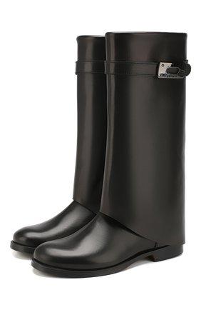 Детские кожаные сапоги GALLUCCI черного цвета, арт. J40014AM/ST P V CUG VSA | Фото 1
