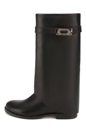 Детские кожаные сапоги GALLUCCI черного цвета, арт. J40014AM/ST P V CUG VSA | Фото 2