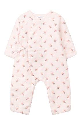 Детский хлопковый комбинезон TARTINE ET CHOCOLAT светло-розового цвета, арт. TP32011/1M-1A | Фото 1