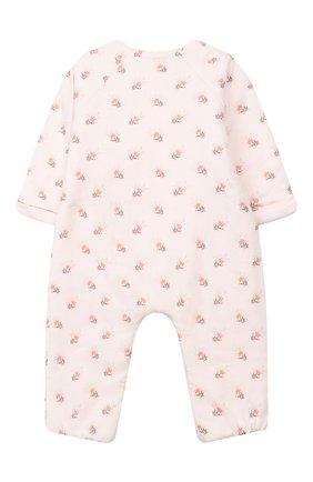 Детский хлопковый комбинезон TARTINE ET CHOCOLAT светло-розового цвета, арт. TP32011/1M-1A | Фото 2