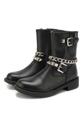 Детские кожаные ботинки TREVIRGOLAZERO 3,0 черного цвета, арт. L0RY/24-29 | Фото 1