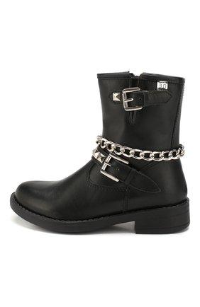 Детские кожаные ботинки TREVIRGOLAZERO 3,0 черного цвета, арт. L0RY/24-29 | Фото 2
