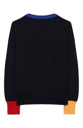 Детский шерстяной пуловер MONCLER ENFANT синего цвета, арт. E2-954-90077-05-A9214/12-14A | Фото 2