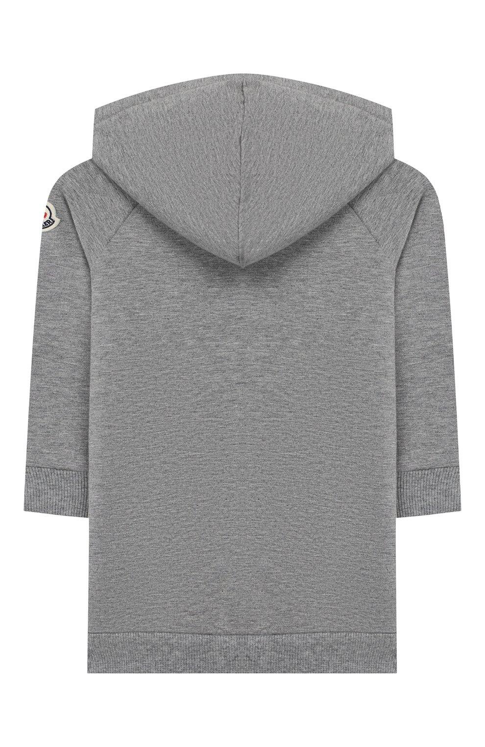 Детский комплект из толстовки и брюк MONCLER серого цвета, арт. E2-951-88607-50-80996   Фото 3