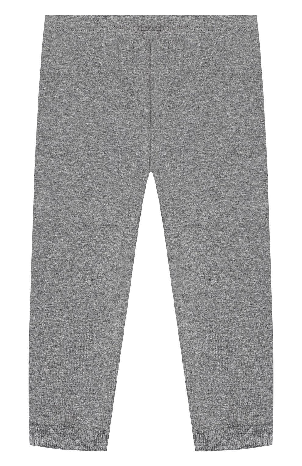 Детский комплект из толстовки и брюк MONCLER серого цвета, арт. E2-951-88607-50-80996   Фото 4