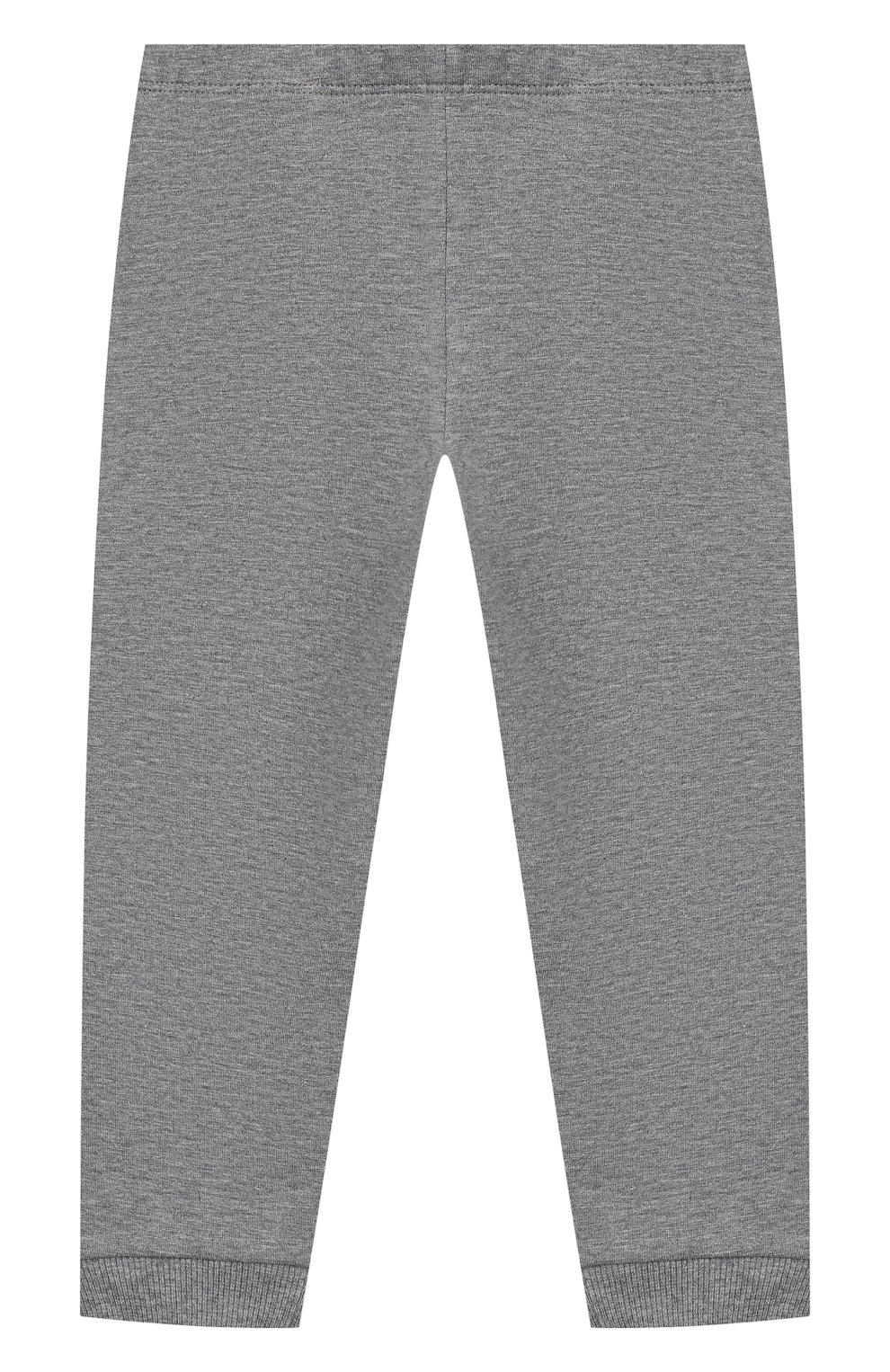 Детский комплект из толстовки и брюк MONCLER серого цвета, арт. E2-951-88607-50-80996   Фото 5