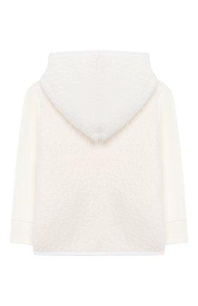 Детский комплект из толстовки и брюк MONCLER белого цвета, арт. E2-951-88556-05-80996 | Фото 3