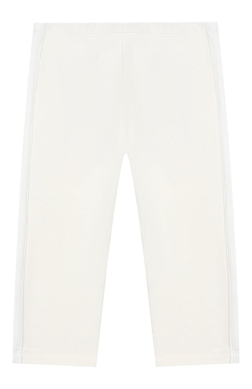 Детский комплект из толстовки и брюк MONCLER белого цвета, арт. E2-951-88556-05-80996 | Фото 4