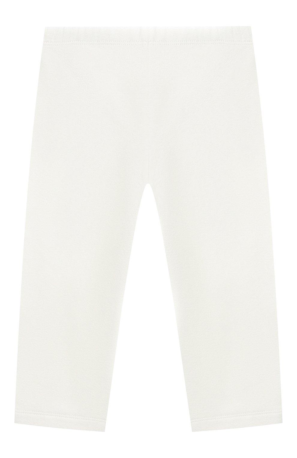 Детский комплект из толстовки и брюк MONCLER белого цвета, арт. E2-951-88556-05-80996 | Фото 5