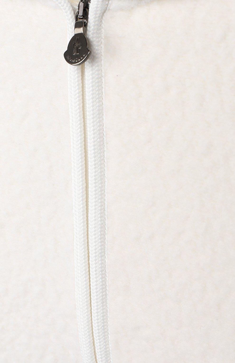Детский комплект из толстовки и брюк MONCLER белого цвета, арт. E2-951-88556-05-80996 | Фото 6