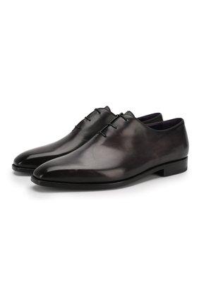 Мужские кожаные оксфорды BERLUTI черного цвета, арт. S3412-001 | Фото 1