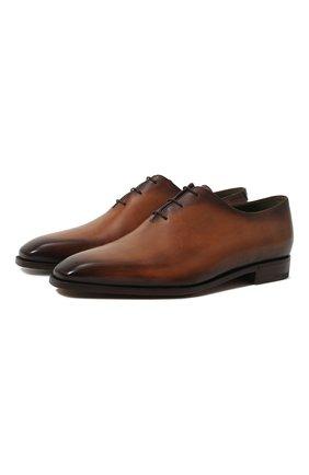 Мужские кожаные оксфорды BERLUTI коричневого цвета, арт. S3412-002 | Фото 1