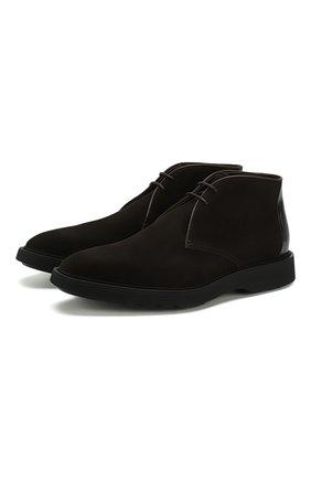 Мужские замшевые ботинки BERLUTI темно-коричневого цвета, арт. S4896-002 | Фото 1