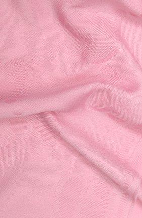 Мужские шерстяной шарф GUCCI розового цвета, арт. 581537/3G200 | Фото 2