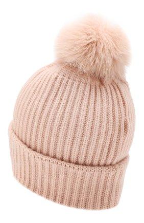 Женский кашемировая шапка YVES SALOMON розового цвета, арт. 20WAA503XXCARD | Фото 2