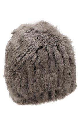 Женский шапка из меха кролика YVES SALOMON серого цвета, арт. 20WY4854XXKLLUN | Фото 1