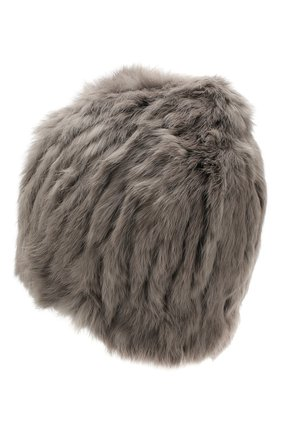 Женский шапка из меха кролика YVES SALOMON серого цвета, арт. 20WY4854XXKLLUN | Фото 2