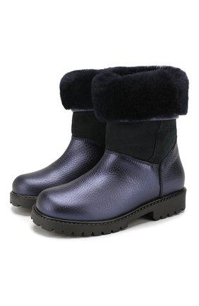 Детские кожаные сапоги GALLUCCI темно-синего цвета, арт. J02554AM/TR S S G0M ALM/M0N | Фото 1