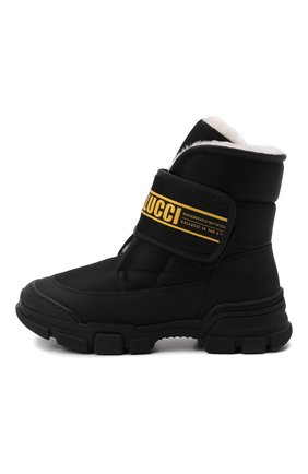 Детские текстильные ботинки GALLUCCI черного цвета, арт. J30068BM/TR S S G0M G0M/TNB | Фото 2