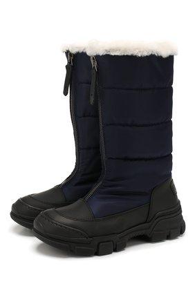 Детские текстильные сапоги GALLUCCI темно-синего цвета, арт. J40016BM/ST S S G0M G0M/TNB | Фото 1