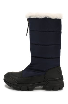 Детские текстильные сапоги GALLUCCI темно-синего цвета, арт. J40016BM/ST S S G0M G0M/TNB | Фото 2