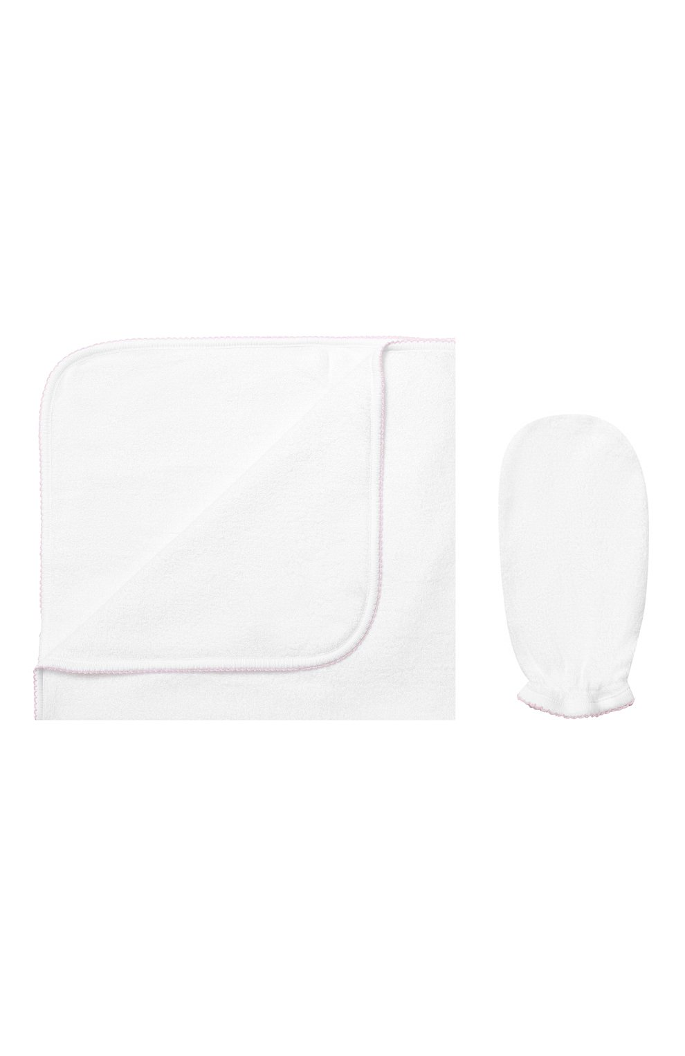 Детского комплект из полотенца и рукавицы KISSY KISSY белого цвета, арт. 48609   Фото 1 (Статус проверки: Проверена категория)