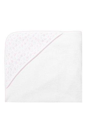 Детского комплект из полотенца и рукавицы KISSY KISSY белого цвета, арт. 48609   Фото 5 (Статус проверки: Проверена категория)