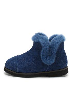 Детские замшевые ботинки AGE OF INNOCENCE синего цвета, арт. 000103/ASHLEY/20-26 | Фото 2