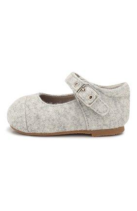 Детские текстильные туфли AGE OF INNOCENCE светло-серого цвета, арт. 000131/JENNY W00L/19-26 | Фото 2