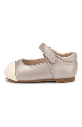 Детские кожаные туфли AGE OF INNOCENCE бежевого цвета, арт. 000131/JENNY/19-25 | Фото 2