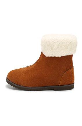 Детские замшевые ботинки AGE OF INNOCENCE коричневого цвета, арт. 000133/IVY/27-33 | Фото 2