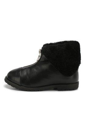 Детские кожаные ботинки AGE OF INNOCENCE черного цвета, арт. 000138/LUCIA/25-31 | Фото 2
