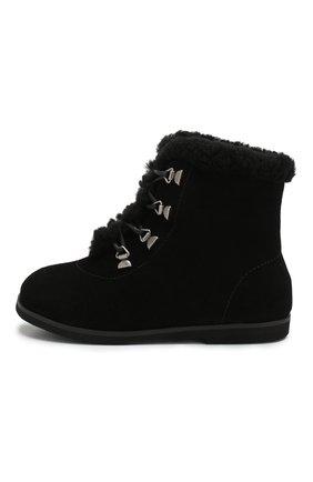 Детские замшевые ботинки AGE OF INNOCENCE черного цвета, арт. 000142/AMY/25-32 | Фото 2