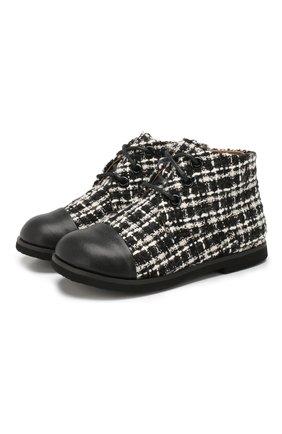 Детские текстильные ботинки AGE OF INNOCENCE черного цвета, арт. 000016/JANE TWEED/22-28 | Фото 1