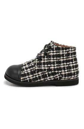 Детские текстильные ботинки AGE OF INNOCENCE черного цвета, арт. 000016/JANE TWEED/22-28 | Фото 2