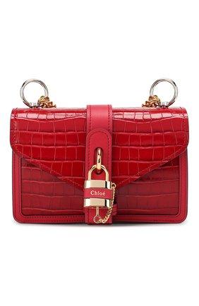 Женская сумка aby chain CHLOÉ красного цвета, арт. CHC19WS206A87   Фото 1