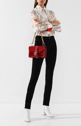 Женская сумка aby chain CHLOÉ красного цвета, арт. CHC19WS206A87   Фото 2