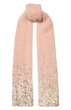 Мужские шерстяной шарф DRIES VAN NOTEN розового цвета, арт. 192-12206-8719 | Фото 1