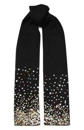 Мужские шерстяной шарф DRIES VAN NOTEN черного цвета, арт. 192-12206-8719 | Фото 1