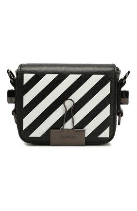 Женская сумка diag binder clip baby OFF-WHITE черного цвета, арт. 0WNA087F194230721001 | Фото 1