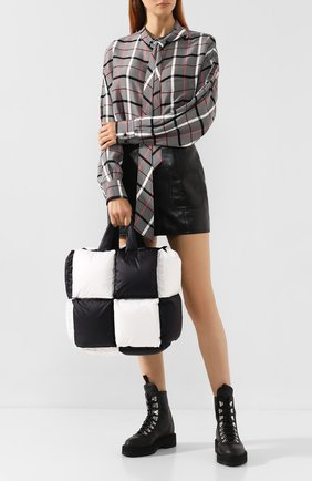 Женская сумка puffy small OFF-WHITE черно-белого цвета, арт. 0WNA100F19F770501000 | Фото 2