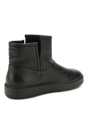 Женские кожаные ботинки SANTONI черного цвета, арт. WBCE60482NEAPWISN01 | Фото 4